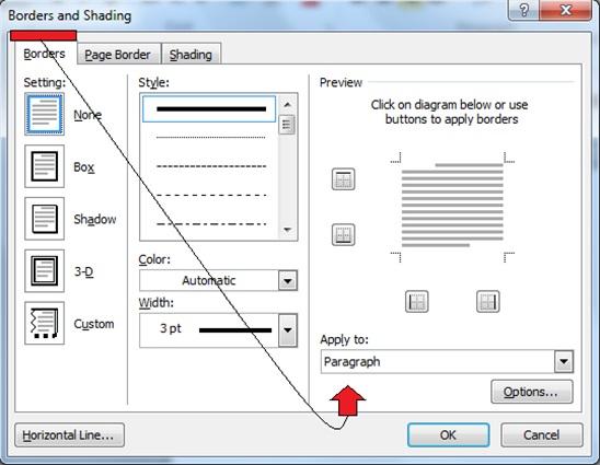 پنجره تنظیمات کادر تصویر